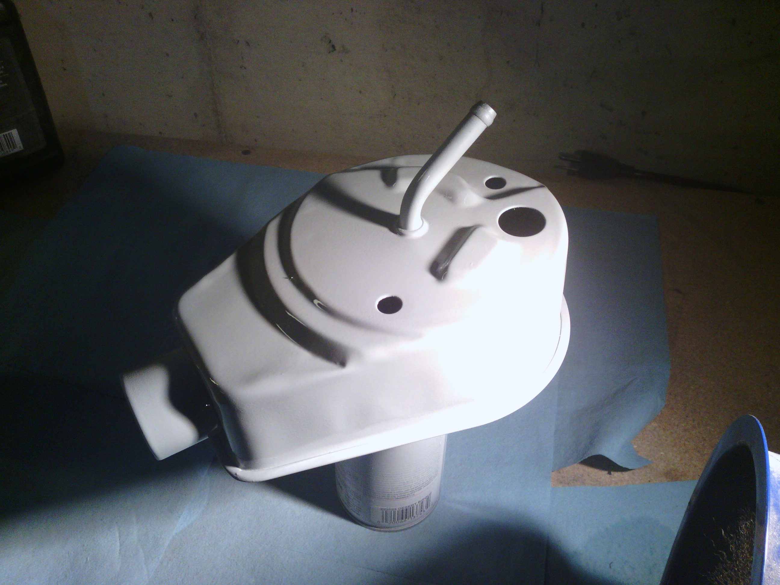 Priming the power steering pump case.