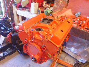 The 350ci Small Block is now assembled!